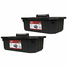 Husky 19x3x7.5 Tool Storage Cleaning Supply Garden Tote Caddy 2PK USA Made
