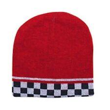 New Auto Racing Flag Checkers Warm Winter Beanie Beanies Hats Cap Caps Unisex