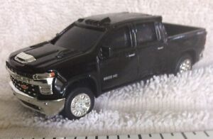 Chevy HD2500 4WD Crew Cab Pickup, Black Just Out nice detail.