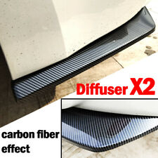 2X Carbon Fiber Style Rear Bumper Canard Splitter Diffuser Spoiler Lip Universal