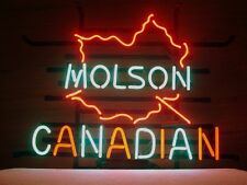 New Molson Canadian Real Glass Neon Light Sign Home Beer Bar Pub Sign