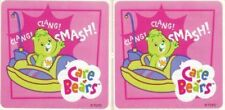 2 x Square Stickers ~ Show Day Care Bears Party Favours Loot ~