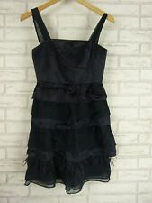 NOTTE BY MAX AND CO MAX MARA Evening Dress Black Sz UK 6, US 2 100% Silk