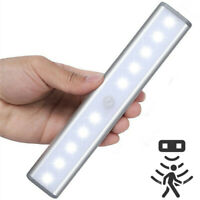 Wireless PIR Motion Sensor 10 LED Night Light Battery Powered Lamp Wall Wardrobe