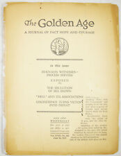 Golden Age Magazine #463 June 16 1937 PHONOGRAPH EXPOSED Watchtower Jehovah