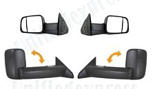 Pair of Towing Mirror(L+R)~MANUAL~09-10-11 Dodge Ram 1500 2500 3500 Pickup Truck
