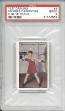 1927 Greiling GEORGES CARPENTIER #4 PSA 2 GD Vintage Boxing Card