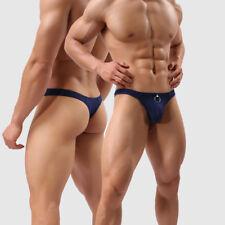 Sexy Hombre Bragas Ropa Interior Respirable Anillos Boxer Cortos G-string