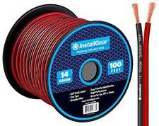 InstallGear 14 Gauge AWG 100ft Speaker Wire Cable - Red/Black
