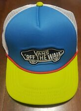 Vans Off the Wall Snapback Neon Yellow and Blue Trucker Hat