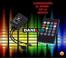 CONTROLADOR RGB CON SENSOR MUSICA  20 BOTONES IR paraTira LED SMD 3528 - 5050