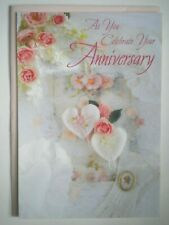 """DaySpring ~ """"AS YOU CELEBRATE YOUR ANNIVERSARY"""" GREETING CARD + PINK ENVELOPE"""