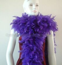 "180g 80"" Regal Purple Chandelle Feather Boa Cynthia's Feathers Solid color"