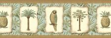 """""""PALMS-PARROTS-PINEAPPLES-BORDER-9""""H-$9.00 PER ROLL-FREE S&H"""