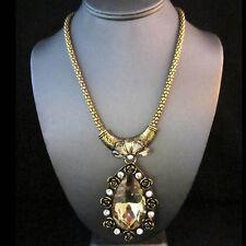 BID ~ NEW Gold Brighton Bay Cinca Rose Pearl Gemmed Chain Necklace