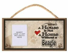 A House is Not a Home without a Beagle Wooden Dog Sign with Clear Insert for You