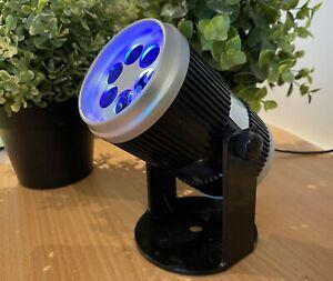 LED Xmas Indoor Projector Blue White Snowflake Design auto + sound responsive