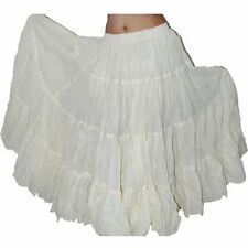 25 Yard  White Color Belly Dance Skirt