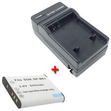 NP-BK1 Battery&Charger for SONY Cybershot DSC-W180/W190 DSCW180 DSCW190 DSC-W370