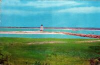 Edgartown Lighthouse, Martha's Vineyard region~Vintage Postcard *Free Shipping*