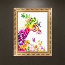 DIY 5D Diamond Embroidery Painting Deer Butterfly Cross Stitch Craft Home Decor