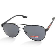 Prada Sport PS54TS 1AB5Z1 Shiny Black/Grey Men's Polarised Metal Sunglasses