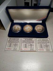 USS ARIZONA USS MISSOURI & THE SURRENDER 3 COIN OFFICIAL COMMEMORATIVE .999...
