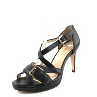 Cole Haan Air Maxine Black Leather Strappy Sandals Pumps Womens Size 5 M