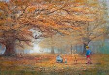 Tenyo 1000 Piece Jigsaw Puzzle Disney Winnie the Pooh The joy of autumn leaves
