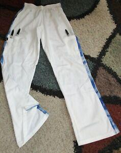 Accent Elastic Waist Cargo Flare Scrub Pant W/ Tie Dye Leg Stripe Sz L to 4X