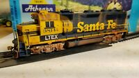 Athearn  ex - Santa Fe gp50 weathered locomotive train engine HO LTEX patch