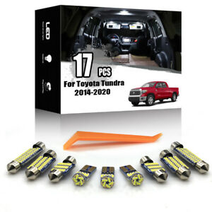 17x For Toyota Tundra 2014-2020 Car Interior LED Lighting Kit Error Free + TOOL