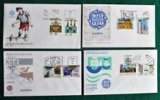ESPAÑA (Tema EUROPA) (4) SOBRES 1 DÍA. - Años - 1989/1990/1991/1992.