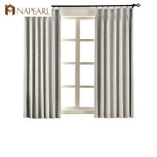 NAPEARL 1 Panel Thicken Cloth Window Decor Curtains Solid Short Blackout Drapes