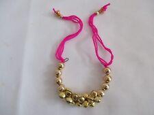 Fiore Gioielli Ghungroo Braccialetti con perline d'oro per le donne e ragazze-NT4