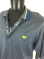 MASTERS Bobby Jones Augusta National PGA Golf Polo Shirt Men L Large Blue Yellow