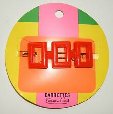 BARRETTE A CHEVEUX COLLECTION FRANCE GALL ANNEES 60- VINTAGE - Rouge