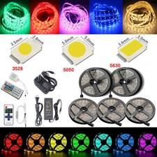 5M 5050 5630 3528 SMD RGB Flexible 300 LED Strip Light Waterproof+Remote+Power