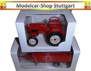 Porsche Junior Tracteur Hercheur Avec Embrayage Et Remorque - Welly 1:24 - Neuf