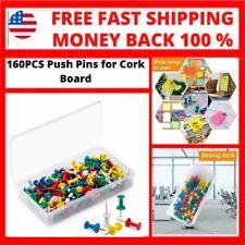 160pcs Push Pins For Cork Boardpush Pins For Wallvarious Colors Push Pins