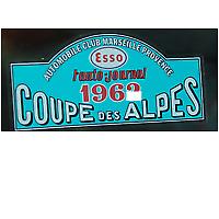 1963 Coupe Des Alpes rally WINDOW Sticker 185mm x 80mm Austin Healey Mini MG BMC