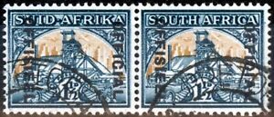 South Africa 1944 1 1/2d Blue-Green & Yellow-Buff SG033 Fine Used (10)