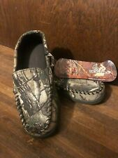 Realtree AP Print Children Camouflage Moccasin Slippers Indoor Outdoor Sz 13-1