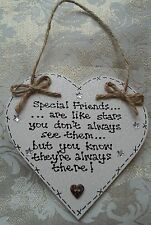 ** HANDMADE -'SPECIAL FRIENDS ARE LIKE STARS...'SHABBY CHIC -Christmas gift..