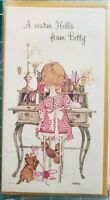 VTG Holly Hobbie Stationery 3 Personalized Hello from BETTY Name Note Cards 1969