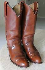 FRYE Western Made in USA Men 8 D BOOTS Saddle Brown Leather Vintage