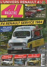 4L MAGAZINE 51 RENAULT 4 F4 RENAULT SERVICE 1984 R3 RENAULT 4 EXPORT MONTE CARLO