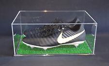 Teca per scarpe da calcio, football in PLEXIGLASS con prato ESCLUSIVA!