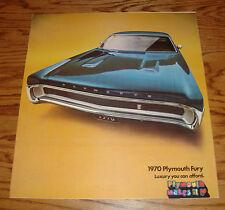 Original 1970 Plymouth Fury Sales Brochure 70 Sport GT III II I Wagon