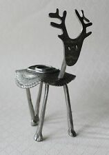 Crosby & Taylor Tin Woodsman TW Pewter Animal Deer Candle Stick Holder